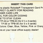 Marketing Card, Clear Card Covers