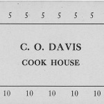 These are the receipt cards used at the cook house . Everything costs 5 or 10 cents and the cashier would punch out the correct totals.
