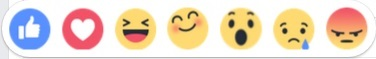 """Facebook new """"Reactions"""", currently in regional testing."""