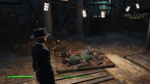 Apparently paranoia doesn't extend to dog-piling at bedtime in Diamond City.