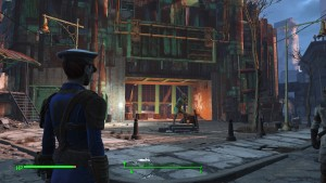 The entrance to Diamond City.
