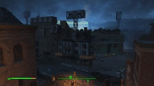 Diamond City from the Library.