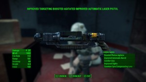 Some people complain about the weapon names, but what else would you call an Improved Targeting Boosted Agitated Improved Automatic Laser Pistol? An ITBAIALP?