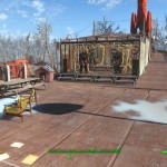 Leveraging stairs to partially compensate for the slope of the roof, I create tiered bays to hold my many sets of power armor.