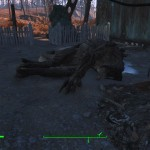 I stopped home to dump some gear and found a dead deathclaw on the doorstep.