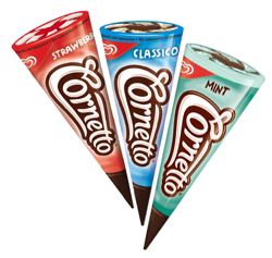 Three Flavours Cornetto