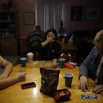 Board games in the parlor.
